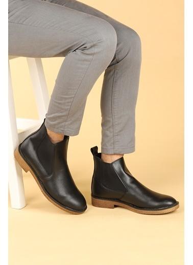 Ayakland Ayakland 5100 Cilt Termo Taban Erkek Bot Ayakkabı Siyah